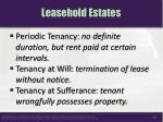 leasehold estates1