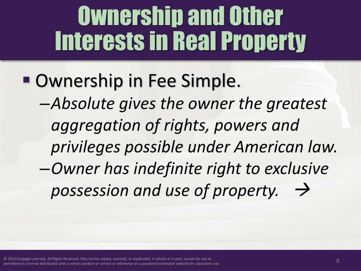 Ownership and Other