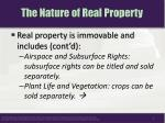 the nature of real property1