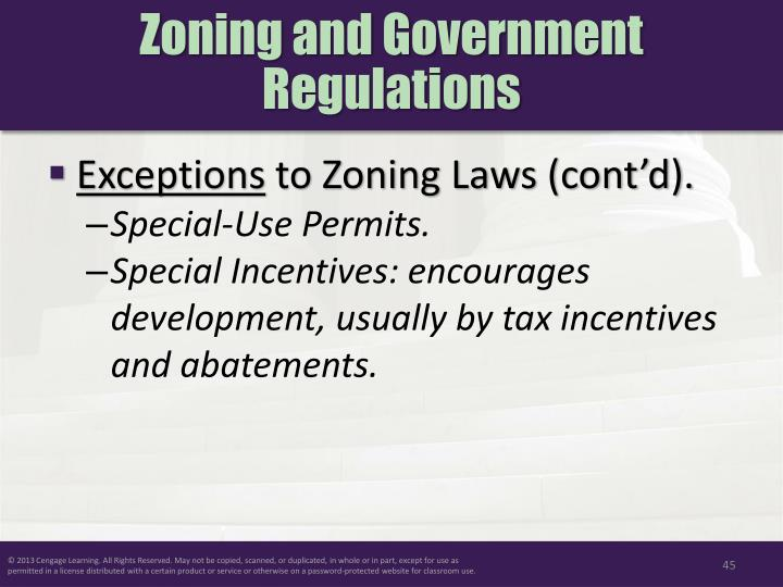 Zoning and Government