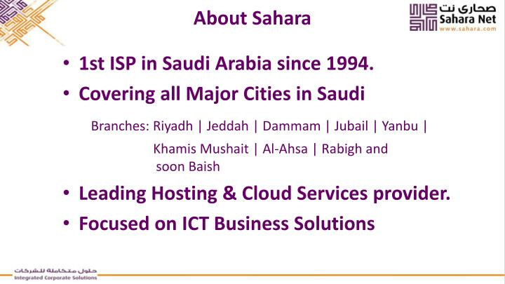 About Sahara