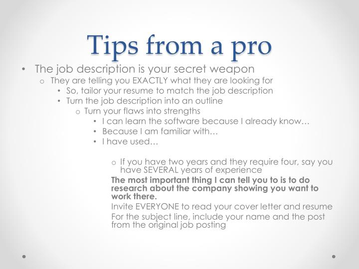 Tips from a pro