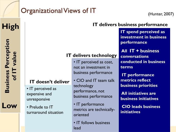 Organizational Views of IT