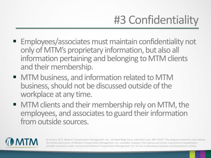 #3 Confidentiality