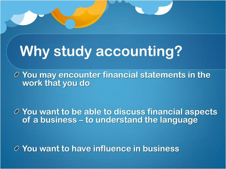 Why study accounting