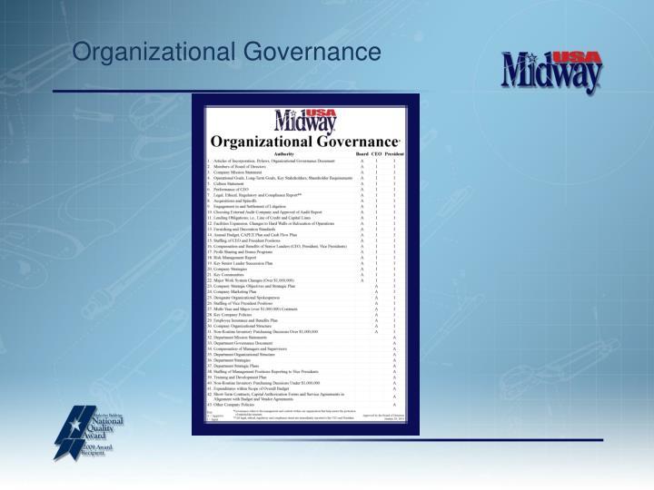 Organizational Governance