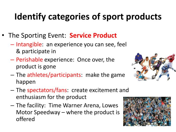 Identify categories of sport products