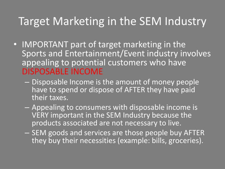 Target Marketing in the SEM Industry