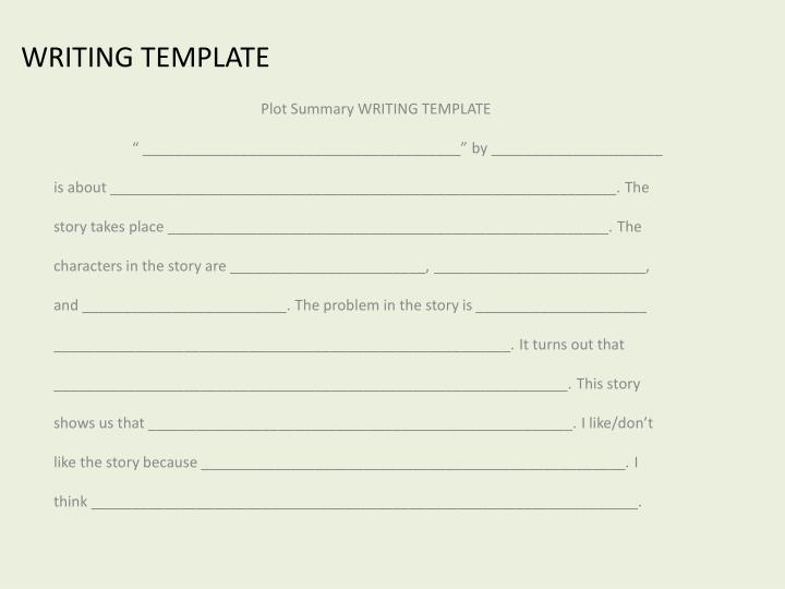 WRITING TEMPLATE