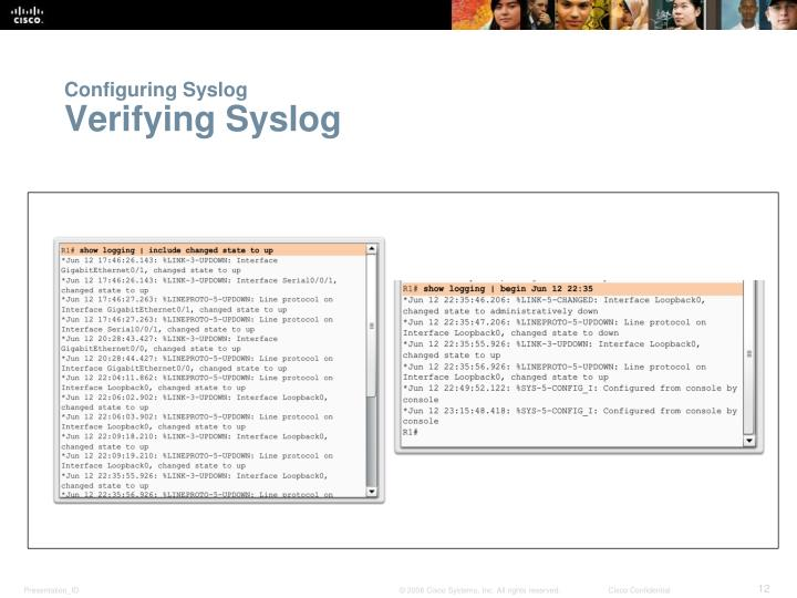 Configuring Syslog