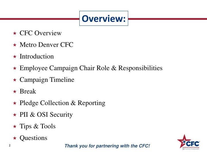 CFC Overview