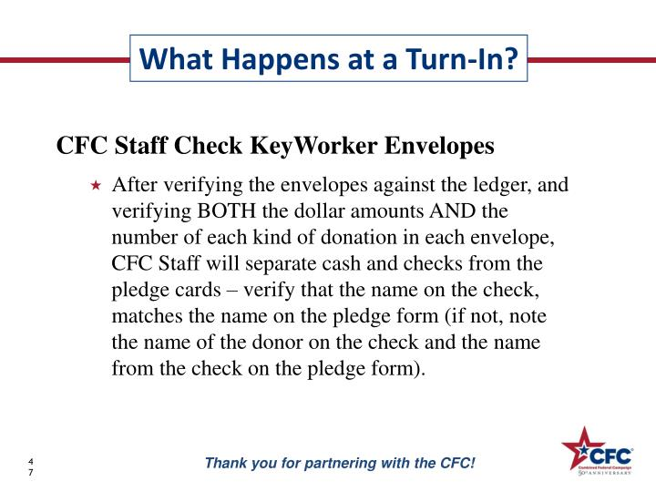 CFC Staff Check