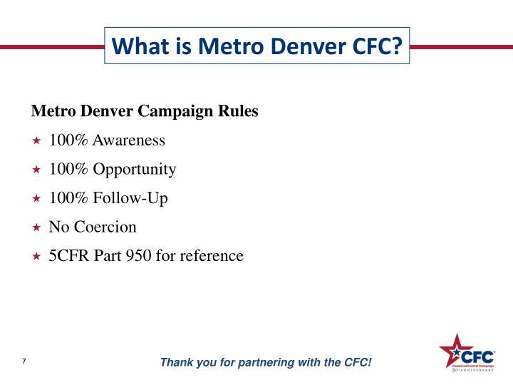 Metro Denver Campaign Rules