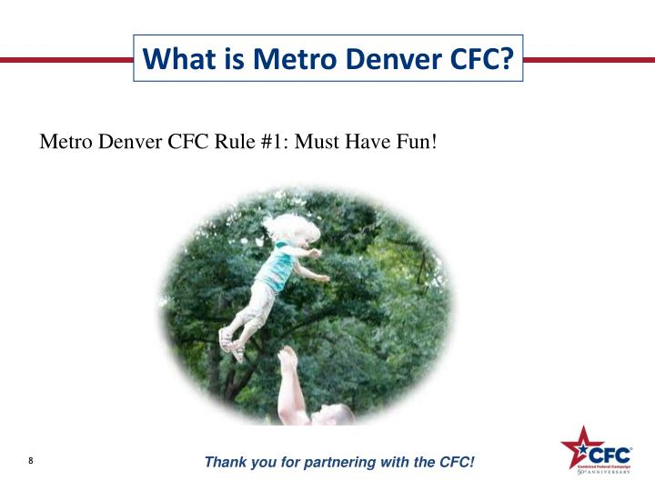 Metro Denver CFC Rule #1: Must Have Fun!