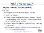 what is the campaign1