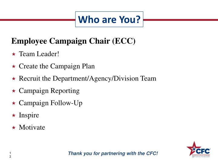 Employee Campaign Chair (ECC)