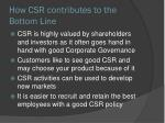 how csr contributes to the bottom l ine