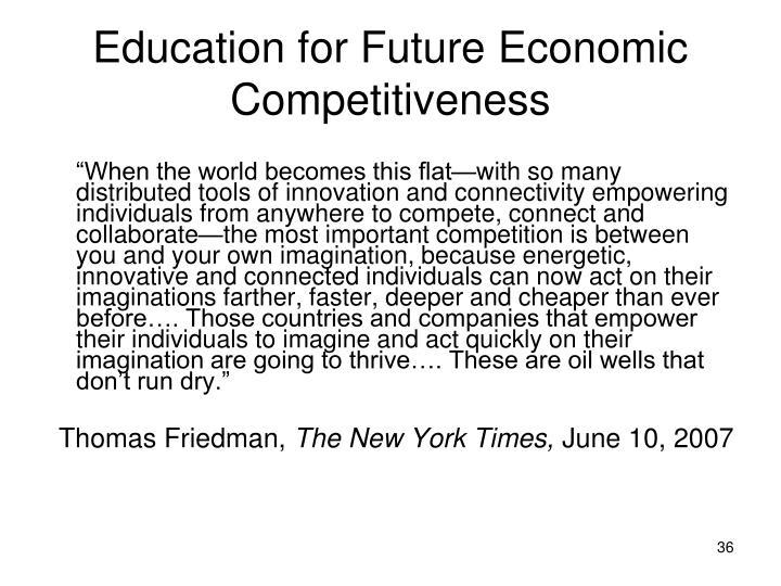 Education for Future Economic Competitiveness