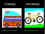 formal informal