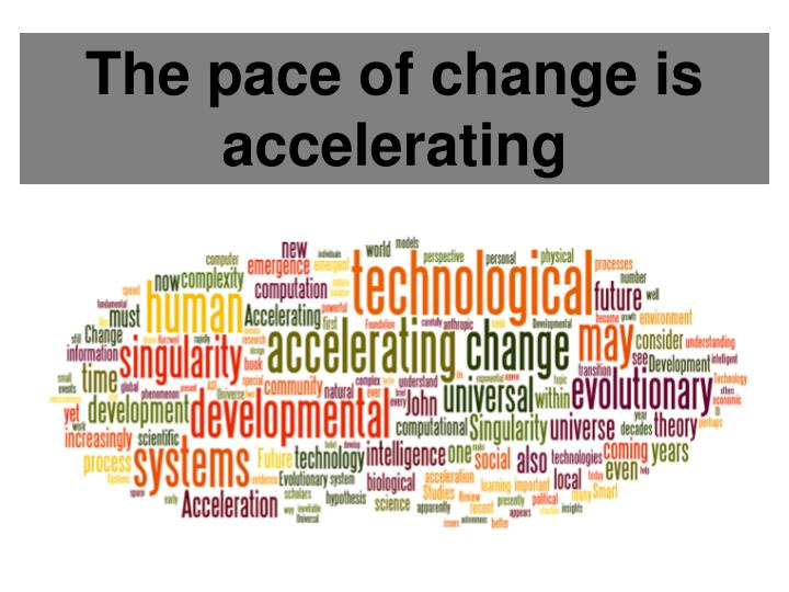 The pace of change is accelerating