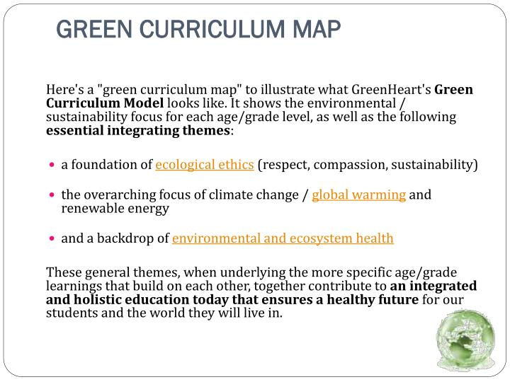 GREEN CURRICULUM MAP