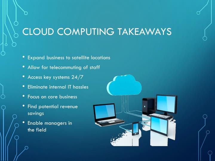 Cloud Computing Takeaways