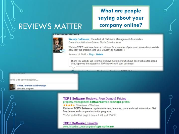 What are people saying about your company online?