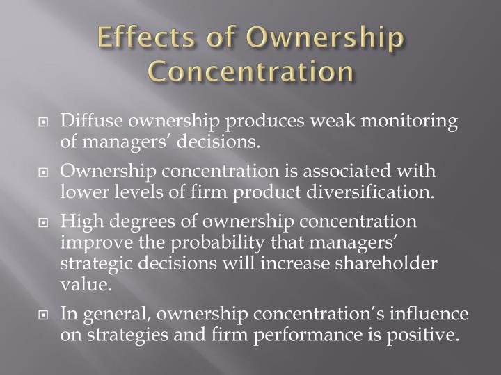 Effects of Ownership Concentration