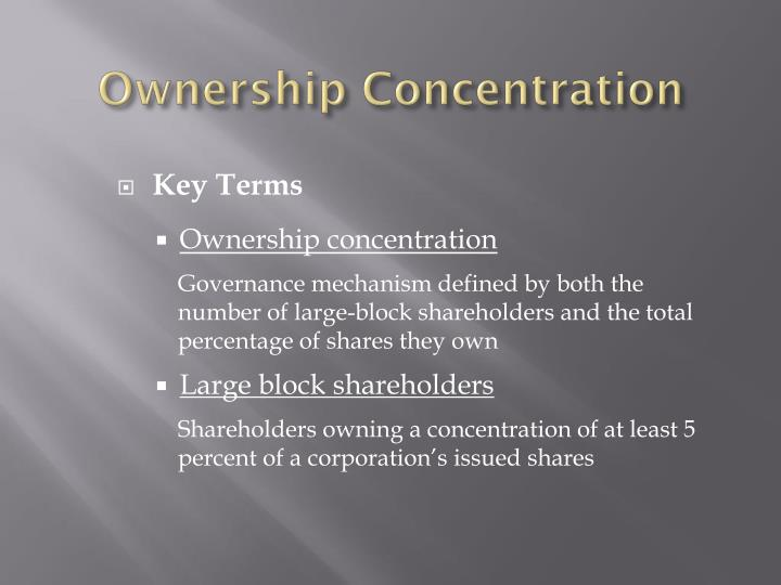 Ownership Concentration