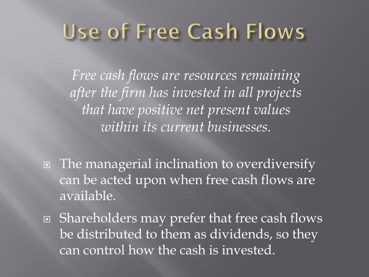 Use of Free Cash Flows