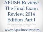 apush review the final exam review 2014 edition part i