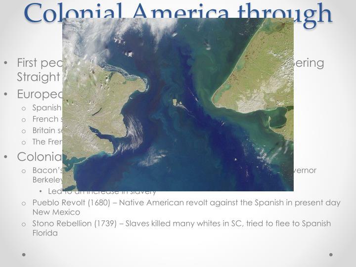Colonial America through 1776