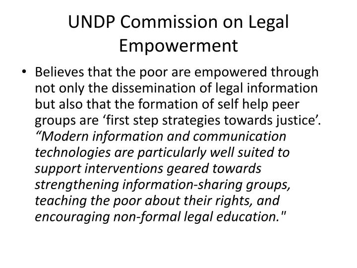 UNDP Commission on Legal Empowerment