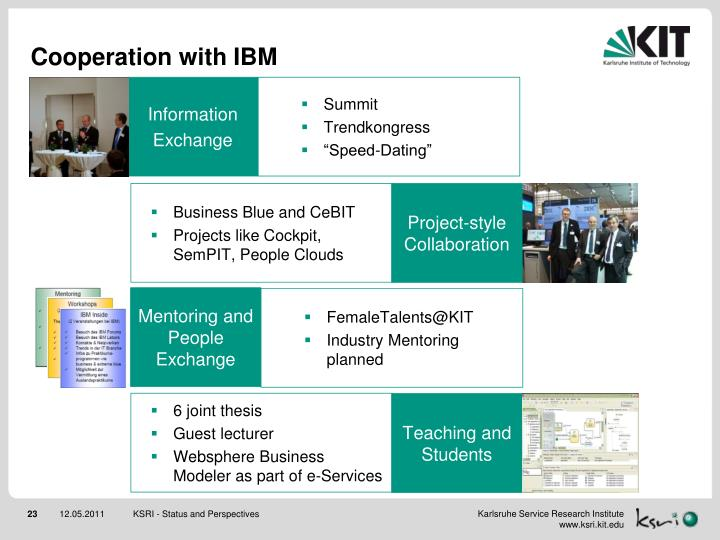 Cooperation with IBM