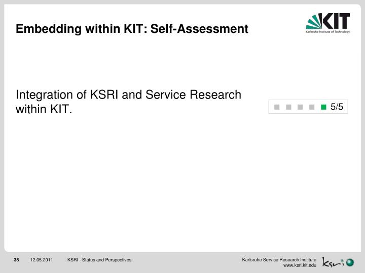 Embedding within KIT: