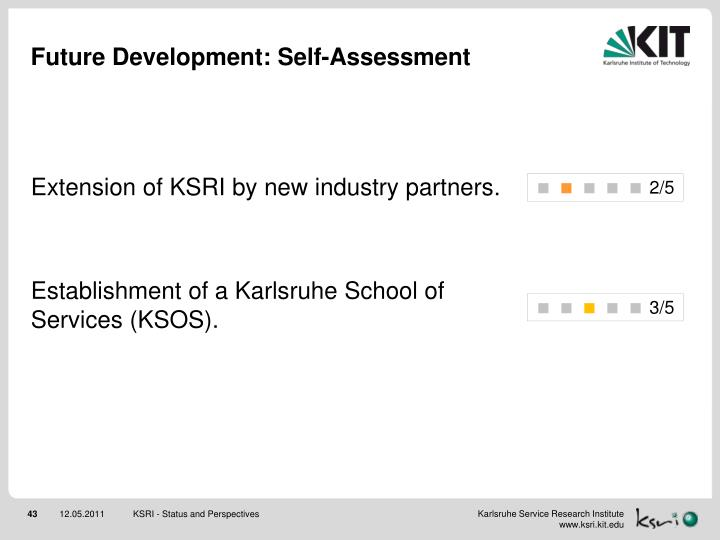 Future Development: Self-Assessment