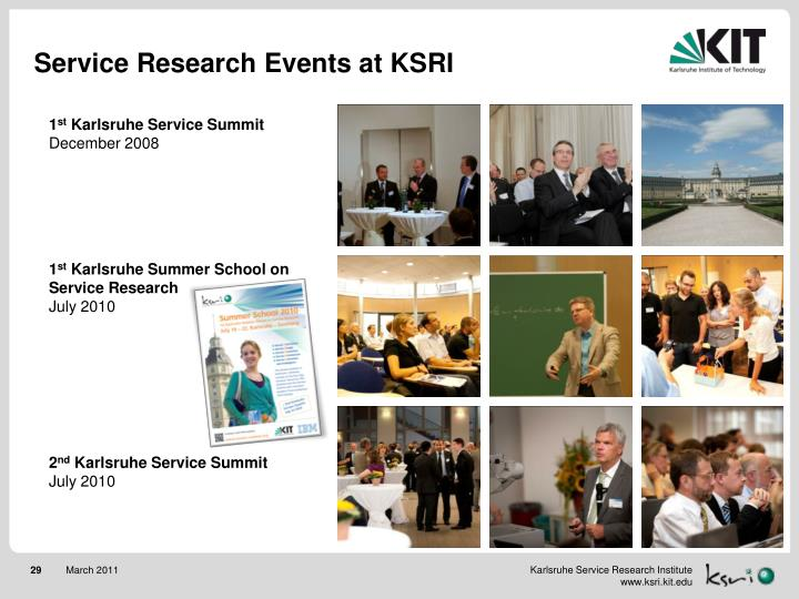 Service Research Events at KSRI
