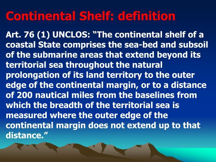 Continental Shelf: definition
