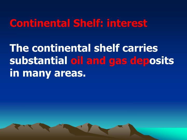 Continental Shelf: interest
