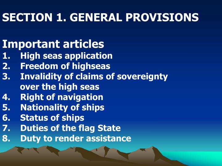 SECTION 1. GENERAL PROVISIONS