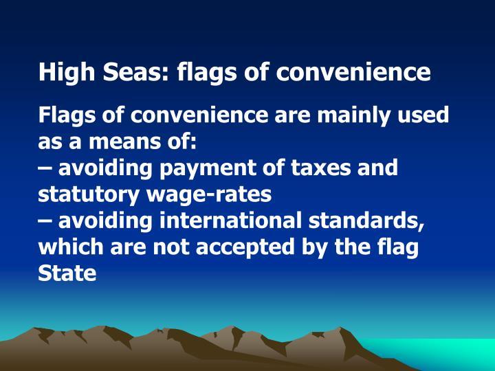 High Seas: flags of convenience