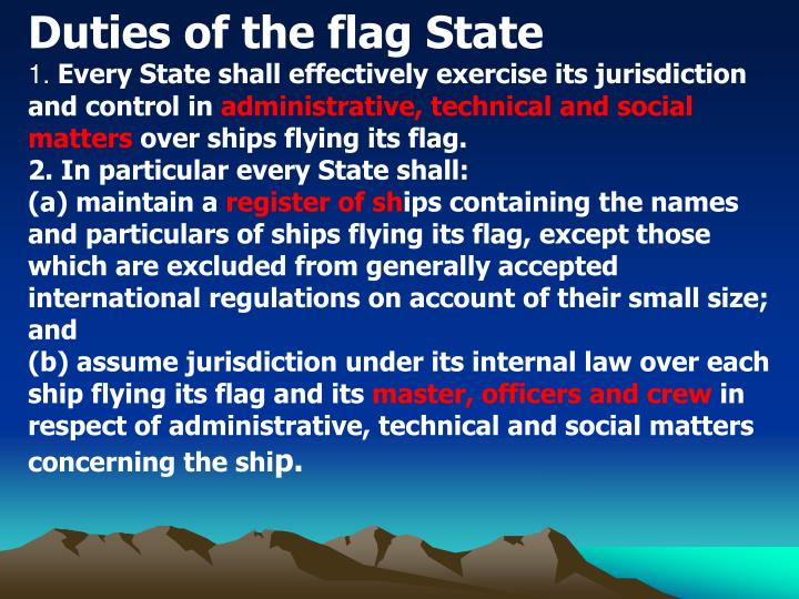 Duties of the flag State