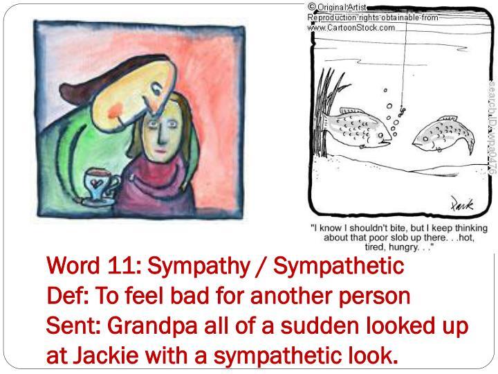 Word 11: Sympathy / Sympathetic
