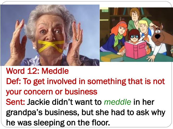Word 12: Meddle