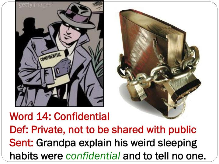 Word 14: Confidential