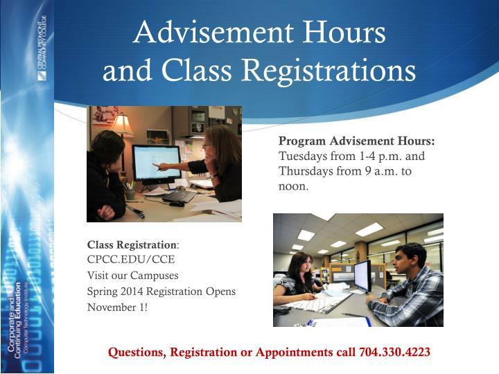 Advisement Hours