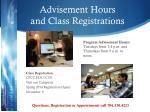 advisement hours and class registrations