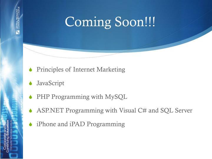 Coming Soon!!!