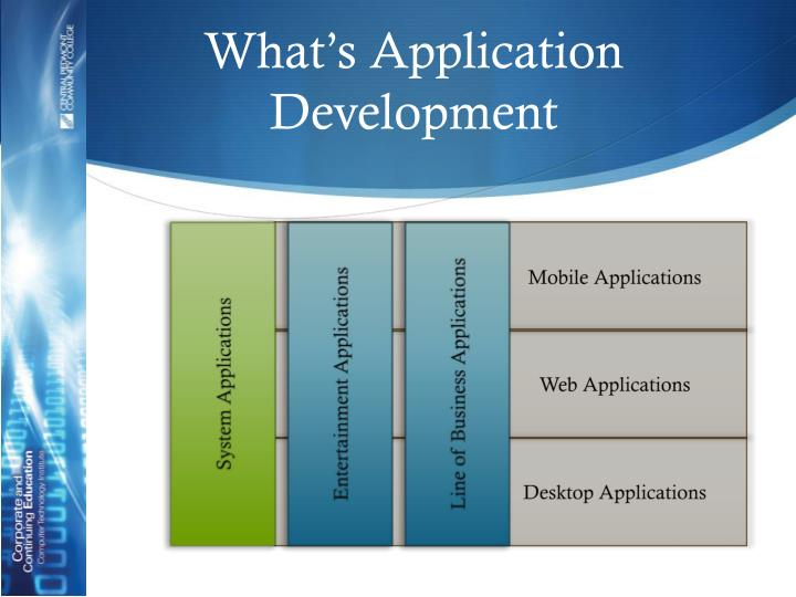 What's Application Development
