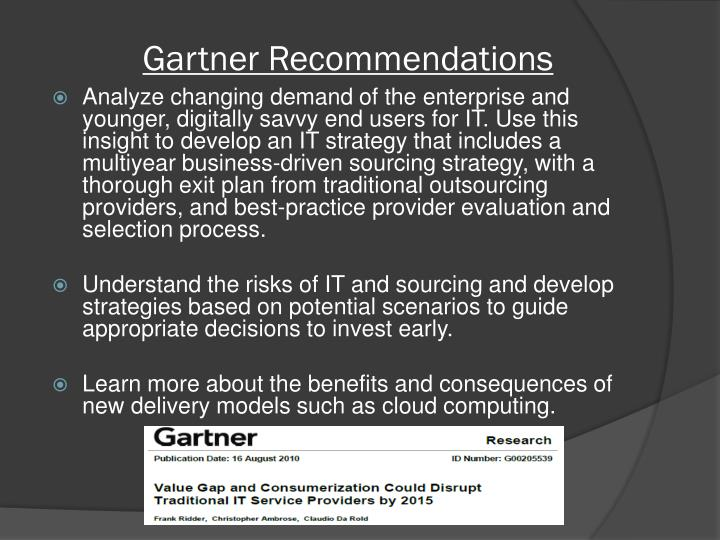 Gartner Recommendations